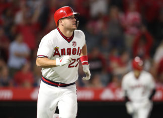 Los Angeles Angels' center fielder Mike Trout